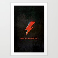 Heroes Never Die - for iphone Art Print