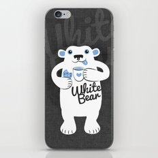 White Bear iPhone & iPod Skin