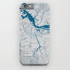 Amsterdam city map grey colour iPhone 6 Slim Case