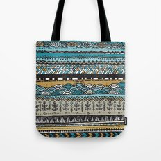 Duck egg and Gold Tote Bag