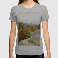 PINE Womens Fitted Tee Athletic Grey SMALL