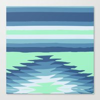 MINT SURF GIRL Canvas Print
