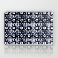 Blue Tile Pattern VIII -… Laptop & iPad Skin