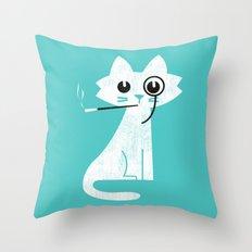 Mark - Aristo-Cat Throw Pillow