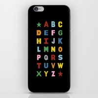 Alphabet On Black iPhone & iPod Skin