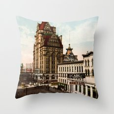 Wisconsin Street in Milwaukee, Wisconsin Throw Pillow