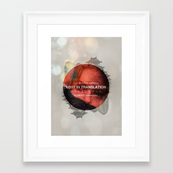 Lost in Translation - Charlotte/Scarlett Framed Art Print