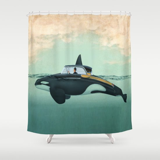 The Turnpike Cruiser of the sea Shower Curtain