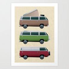 VW Camper Art Print