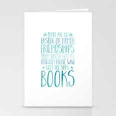 Bookish Friendship - Blu… Stationery Cards