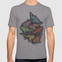 Newspaper Fish Mens Fitted Tee Athletic Grey SMALL