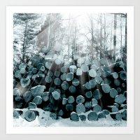 wood Art Prints featuring wood  by mark ashkenazi
