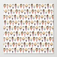 Saved by the Bell Pattern Canvas Print