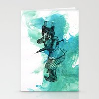 Carnival Bear Time Traveler Stationery Cards