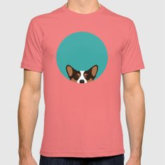 Corgi Mens Fitted Tee Pomegranate SMALL