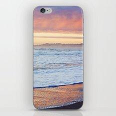 Vibrant Sunset over the Stacks at Huntington Beach, California iPhone & iPod Skin