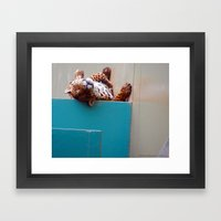 Reclining Jaguar Framed Art Print