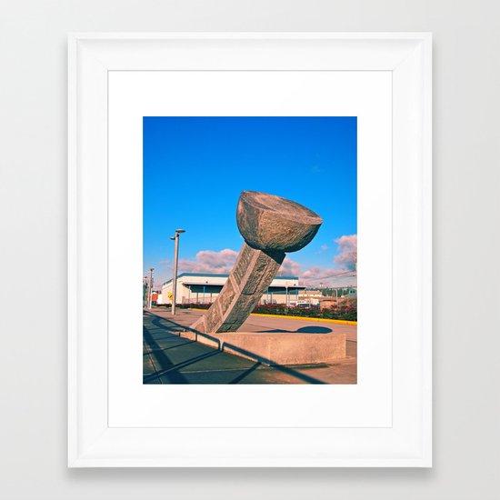 South Tacoma artwork Framed Art Print