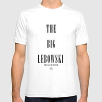The Big Lebowski Mens Fitted Tee White SMALL