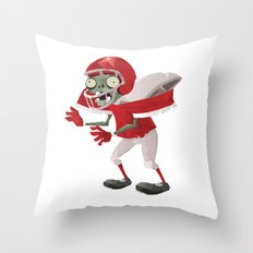 Football Player Zombie Throw Pillow