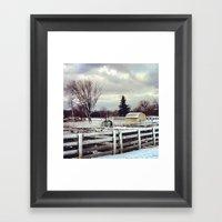Yellow Barn Framed Art Print