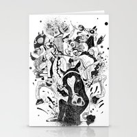 The Great Horse Race! B&W Edition Stationery Cards