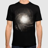Staircase Mens Fitted Tee Black SMALL