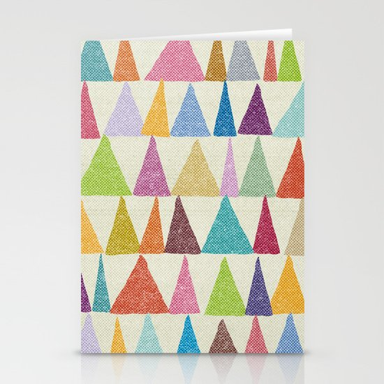 Analogous Shapes In Bloom. Stationery Card