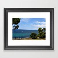 Croatia Seaside Framed Art Print
