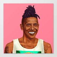 Hipstory - Barack Obama Canvas Print