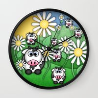 Cows & Daisies  Wall Clock