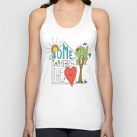 Home Is Where The Heart … Unisex Tank Top