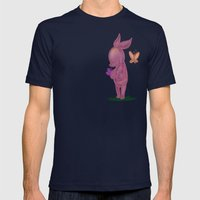 Spring Piglet Mens Fitted Tee Navy SMALL