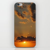 Orange Sunset iPhone & iPod Skin