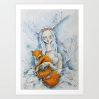 The Fox Queen Art Print