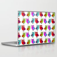 owls Laptop & iPad Skins featuring Owls by BlackBlizzard