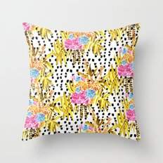 Patterned Bouquet II Throw Pillow