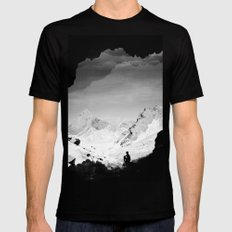 Snowy Isolation Mens Fitted Tee Black SMALL