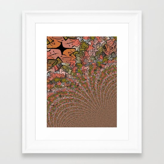 The Emergence Abstract Framed Art Print