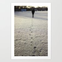 Trace in Snow Art Print