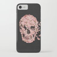 skulls iPhone & iPod Cases featuring A Beautiful Death  by Terry Fan