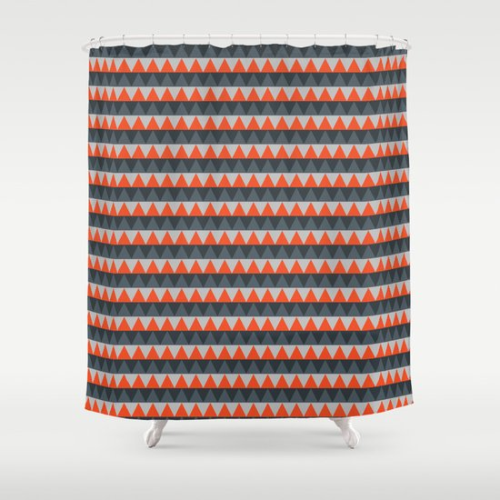 Curtains Ideas gray and orange shower curtain : Orange Gray Pattern Shower Curtain by Jaymee | Society6