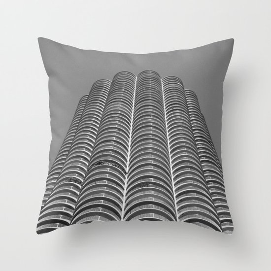 Marina City Tower Photo, Chicago, Architecture Throw Pillow