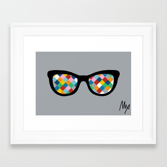 Diamond Eyes Framed Art Print