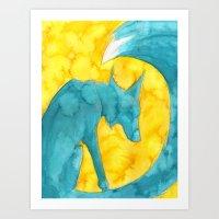 Summer Spirit (Tsunami Fox) Art Print