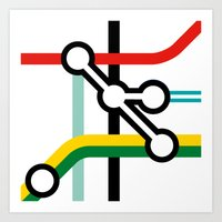 Tube Junction No1 Art Print