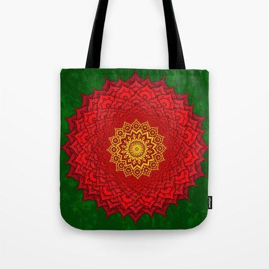 okshirahm rose mandala Tote Bag