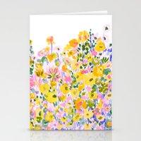 Flower Fields Sunshine Stationery Cards