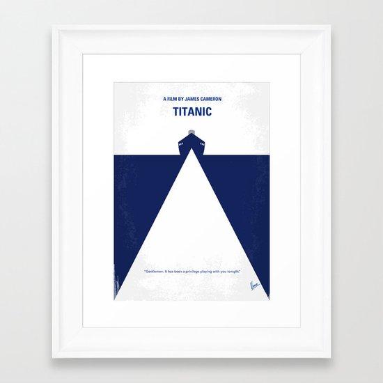 No100 My Titanic minimal movie poster Framed Art Print