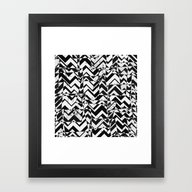 Abstract B&W Framed Art Print